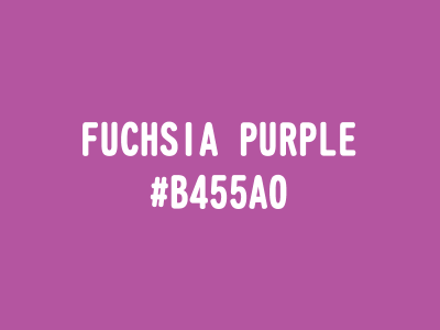 FUCHSIA PURPLE(#B455A0)