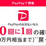 PayPay決済で抽せんで全額(10万円まで)戻る!
